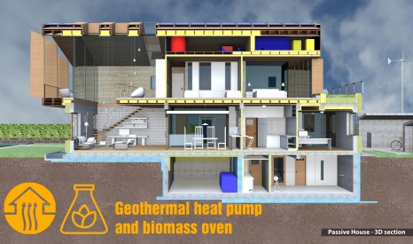 Geothermal heat pump & biomass oven