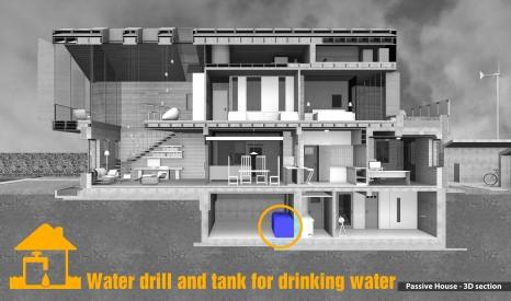 Trinking water drill & tank