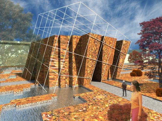 3D exterior perspective - autumn