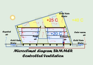 Microclimate diagram - summer