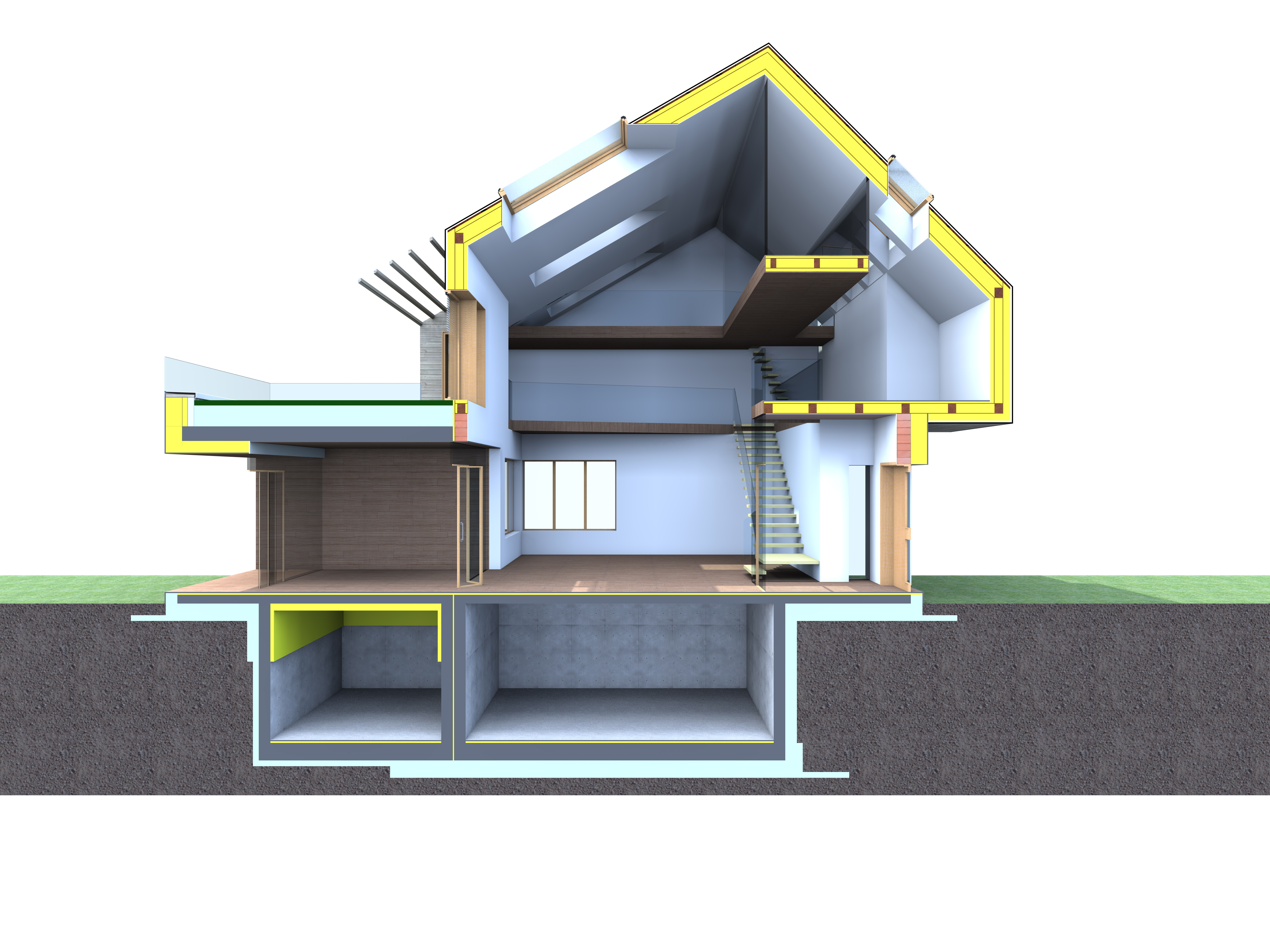Mch designer passive house 3d section architecture 3d house builder online
