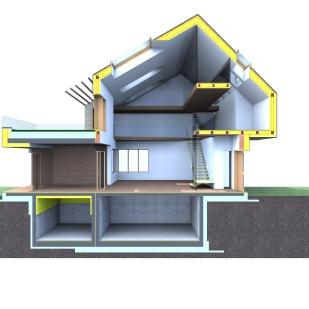 MCH Designer Passive House 3D section
