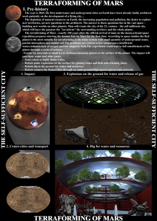 1. Prehistory - Terraforming of Mars - The self-sufficient city