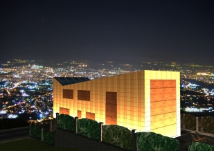 3D exterior perspective - night