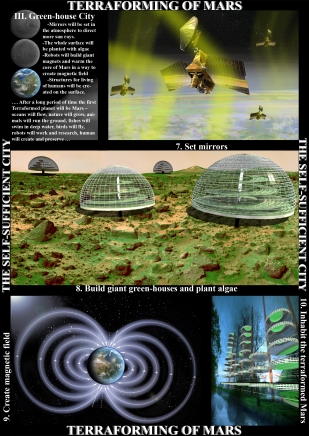 3. Green-house city - Terraforming of Mars - The self-sufficient city
