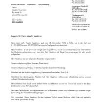 Recommendation/Arbeitszeugnis Rongen Architekten