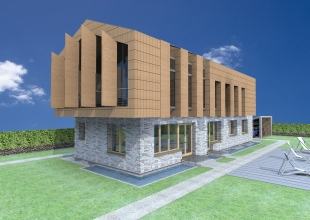 3D exterior view_South-west facade
