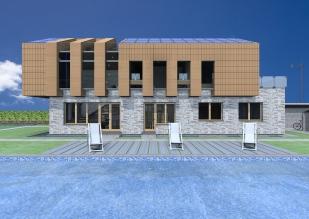 3D exterior view_South facade