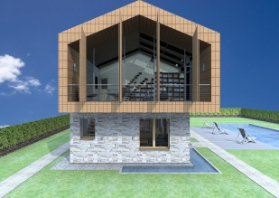 3D exterior view_West facade