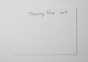 Saving the art