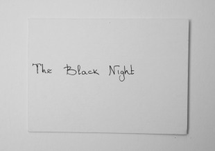 The black night - paint the gallery in black during the night