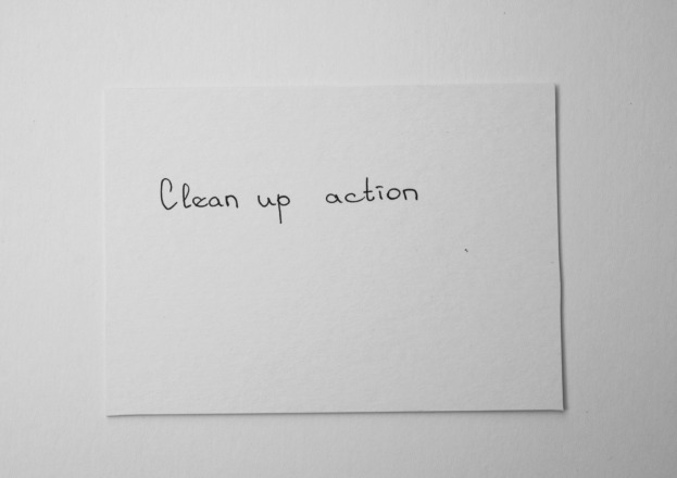 Clean up action