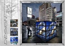 ArchCube - exterior perspective - urban square (night)