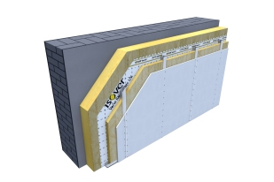 Certified 3D Passive house detail: Mineral wool - renovation wall