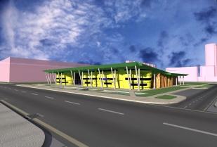 Public Library_3D Exterior - boulevard view