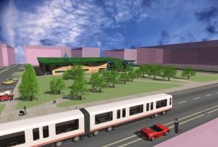 Public Library_3D Exterior - park view