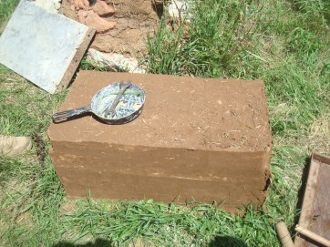 Clay block for wall construction