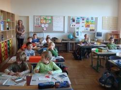 Поглед към класна стая - мащаб и цветово решение