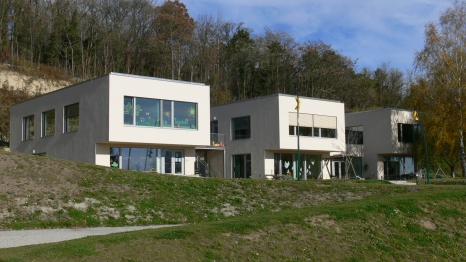 Пасивна детска градина и училище във Виена, Австрия - композиция на детската градина