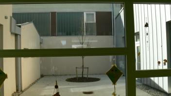 Вътрешен двор в училището