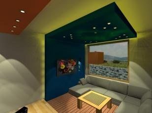 3D_Дневен кът сядане–лампи и горно осветление ГК