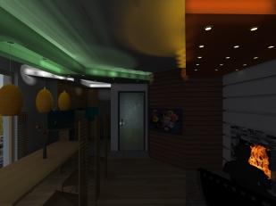 3D_Дневна_Поглед от дивана-горно осветление зад ГК