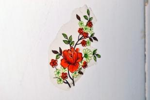 Flower of the wall (ceramic tile)