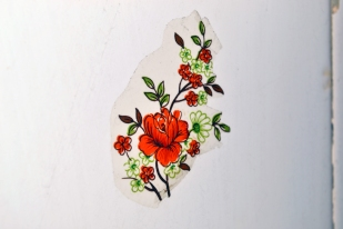 Flower of the wall (ceramic tile)