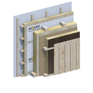 Exterior wall Passive House 3D Detail