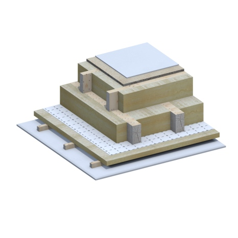 Slopped Roof Passive House 3D Detail