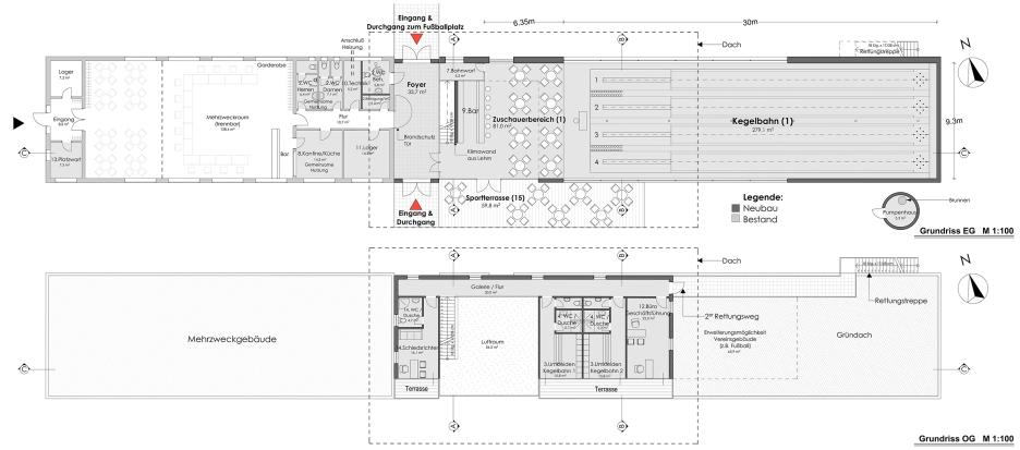 Plans GF und 1st Floor