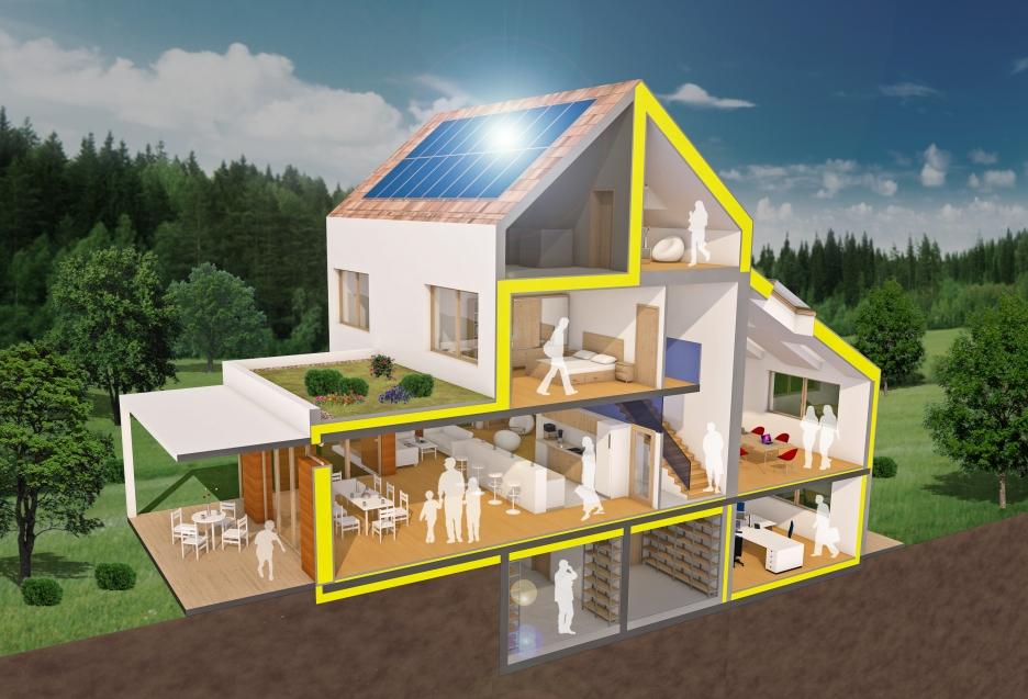 Airtightness 3D House