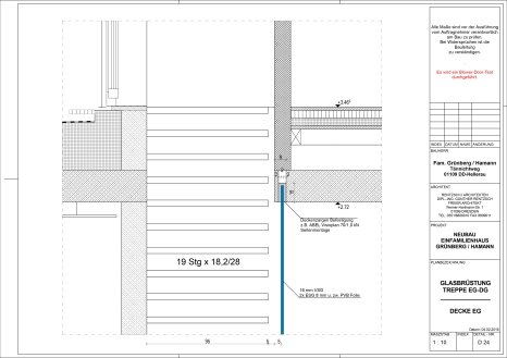 D_24 Glasbrüstung Treppe Decke