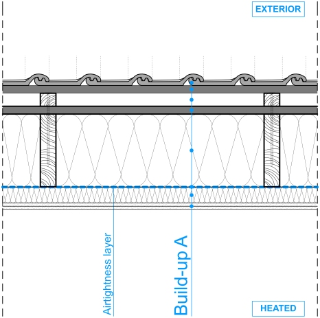 3D_BIM & More_Wood_Slopped Roof MW_Longitude section