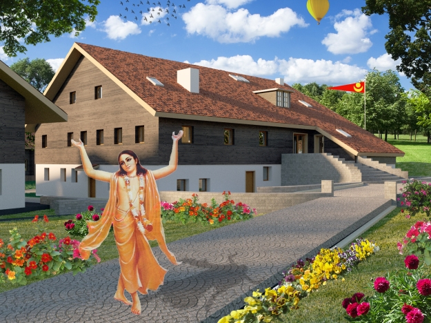 3D_Garden_Photoshop_Lord Chaitanya