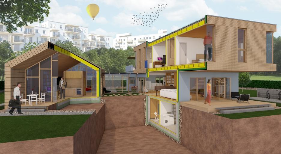 SG Holzbau_3D Haus_Cut view